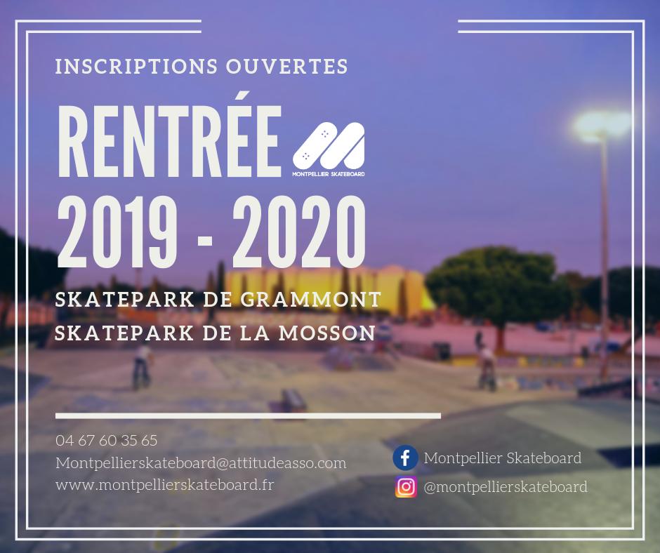 RENTREE 2019-2020 Inscriptions ouvertes !
